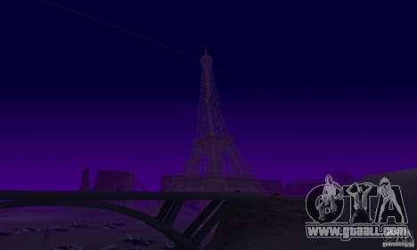 The Eiffel Tower from Call of Duty Modern Warfar for GTA San Andreas fifth screenshot
