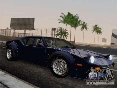 De Tomaso Pantera GT4 for GTA San Andreas back view