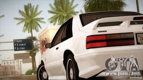 Ford Mustang SVT Cobra 1993 for GTA San Andreas interior