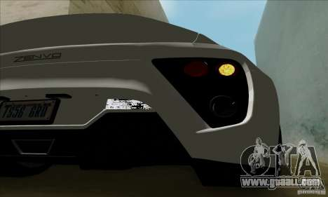 Zenvo ST1 2010 for GTA San Andreas right view