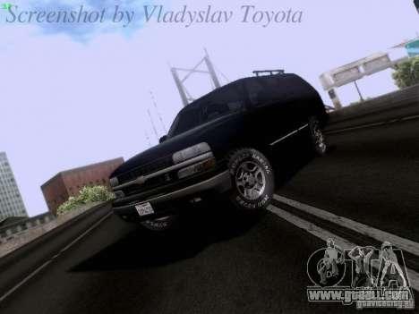 Chevrolet Tahoe 2003 SWAT for GTA San Andreas