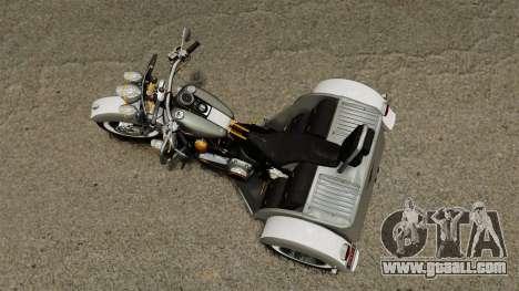 Harley-Davidson Trike for GTA 4 right view