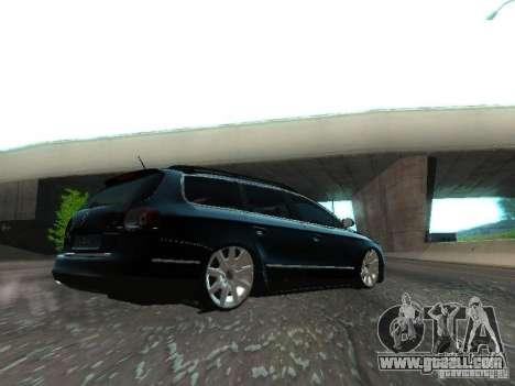 Volkswagen Passat B6 Variant Com Bentley 20 Fixa for GTA San Andreas back view