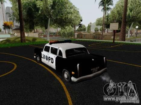 Cabbie Police LV for GTA San Andreas back left view