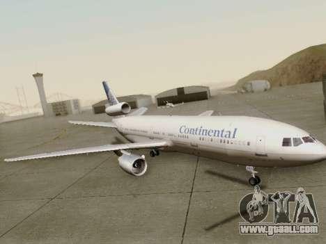 McDonell Douglas DC-10-30 Continental for GTA San Andreas