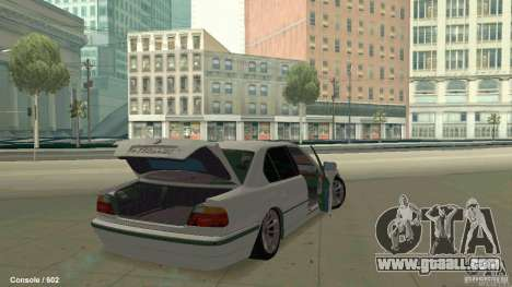 BMW 750i for GTA San Andreas back view