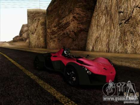 BAC MONO for GTA San Andreas back left view