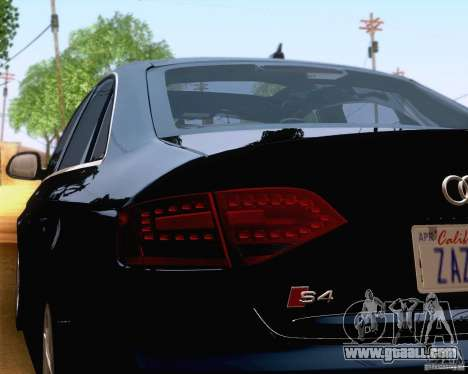 Audi S4 2010 for GTA San Andreas upper view