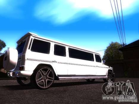 Mercedes-Benz G500 Limousine for GTA San Andreas right view