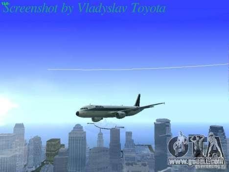Airbus A320-214 Alitalia v.1.0 for GTA San Andreas upper view