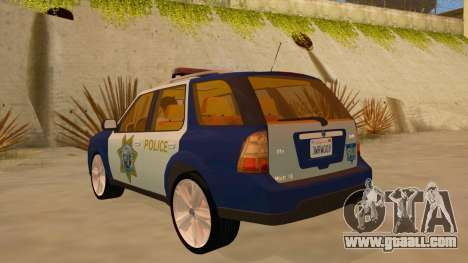 Saab 9-7X Police for GTA San Andreas back left view