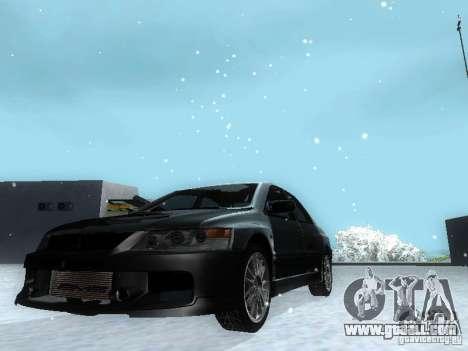 Mitsubishi Lancer Evo IX MR Evolution for GTA San Andreas back left view