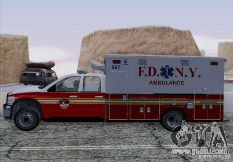 Dodge Ram Ambulance for GTA San Andreas right view