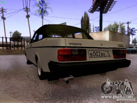 Volvo 242 Turbo for GTA San Andreas back left view
