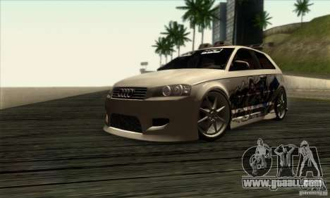 Audi A3 Tunable for GTA San Andreas back left view