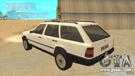 Mercedes Benz E-Class W124 for GTA San Andreas back left view