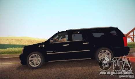 Cadillac Escalade ESV 2012 for GTA San Andreas left view
