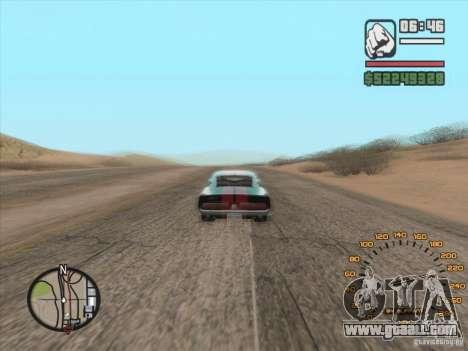 Classic speedometer for GTA San Andreas