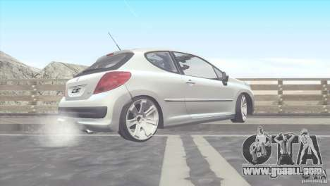 Peugeot 207 RC for GTA San Andreas left view