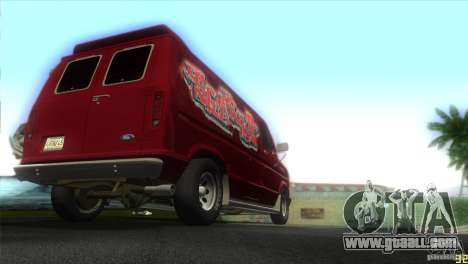 Ford E-150 Gang Burrito for GTA Vice City right view