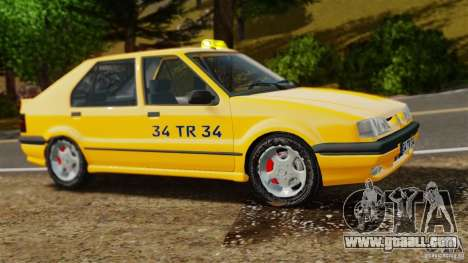 Renault 19 Taxi for GTA 4 left view