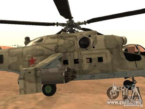 Mi-24 p for GTA San Andreas side view