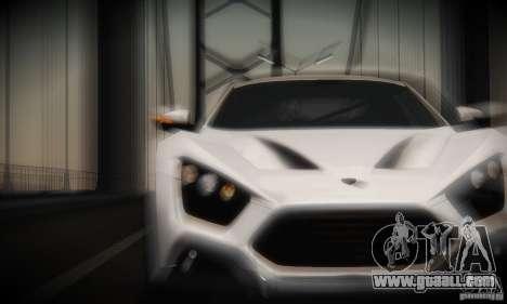 Zenvo ST1 2010 for GTA San Andreas inner view