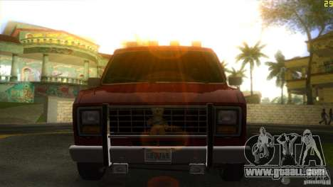 Ford E-150 Gang Burrito for GTA Vice City back left view