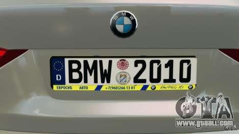 BMW X1 for GTA 4 interior