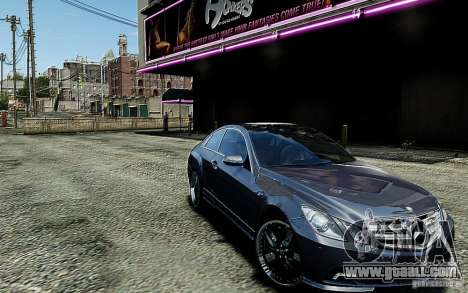 Mercedes Benz E500 Coupe for GTA 4 back view