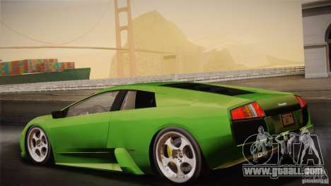 Lamborghini Murcielago 2002 v 1.0 for GTA San Andreas bottom view
