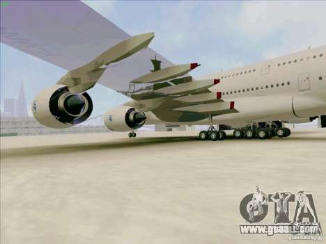 Airbus A380-800 for GTA San Andreas back view