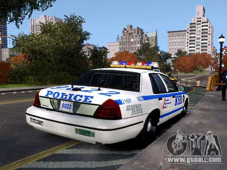 Ford Crown Victoria NYPD for GTA 4 left view