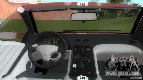 Lamborghini Diablo VTTT Black Revel for GTA Vice City back left view