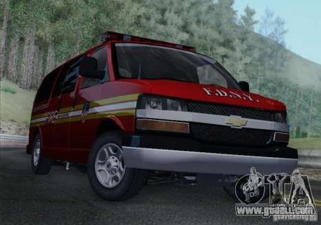 Chevrolet Express Special Operations Command for GTA San Andreas back left view