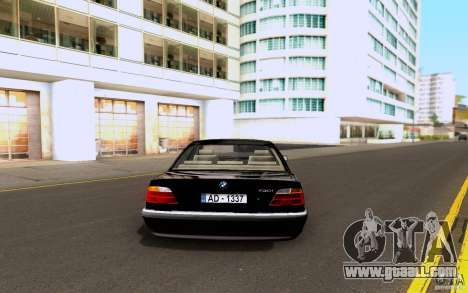 BMW 730i E38 FBI for GTA San Andreas right view