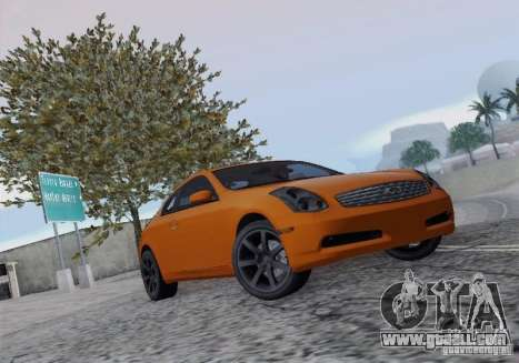 Infiniti G35 for GTA San Andreas inner view