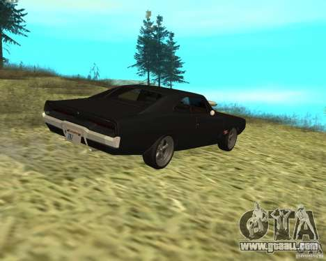 Dodge Charger R/T 1970 for GTA San Andreas back view