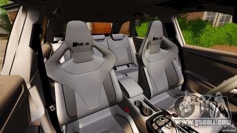 Audi RS4 Avant 2013 for GTA 4 inner view