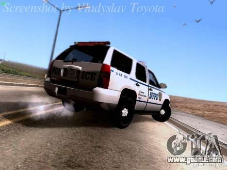 Chevrolet Tahoe 2007 NYPD for GTA San Andreas right view