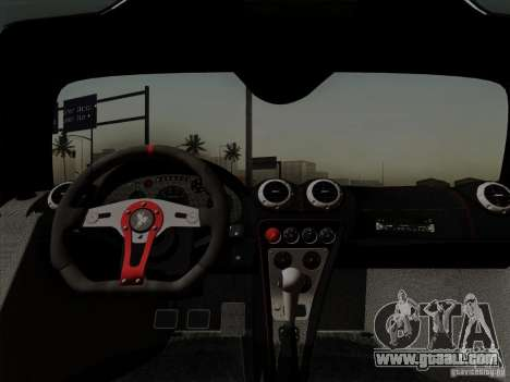 Gumpert Apollo 2005 for GTA San Andreas inner view