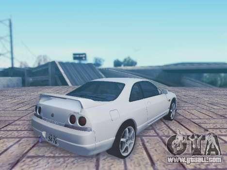 Nissan Skyline ECR33 for GTA San Andreas left view