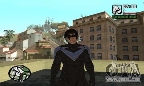 Nightwing skin for GTA San Andreas