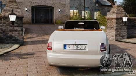 Rolls-Royce Phantom Convertible 2012 for GTA 4 back left view