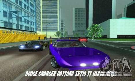 Dodge Charger Daytona SRT10 for GTA San Andreas back left view