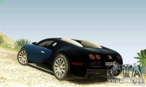 Bugatti Veyron for GTA San Andreas back left view