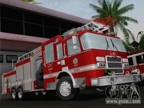 Pierce Arrow LAFD Ladder 43 for GTA San Andreas engine
