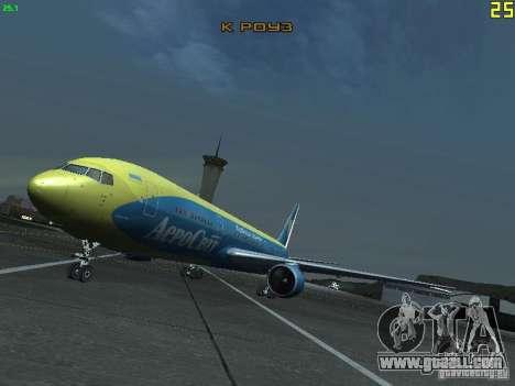 Boeing 767-300 AeroSvit Ukrainian Airlines for GTA San Andreas