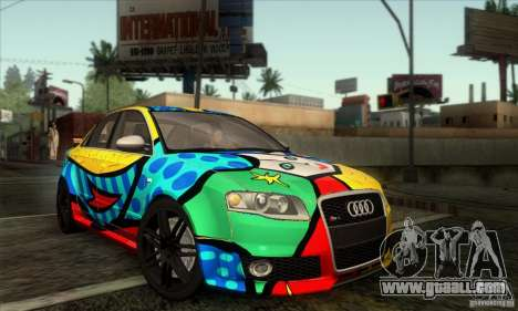 Audi RS4 for GTA San Andreas inner view
