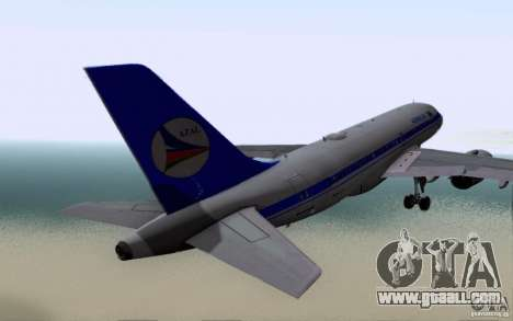 Airbus A-319 Azerbaijan Airlines for GTA San Andreas right view